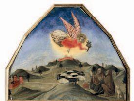 Annuncio ai pastori, Sano di Pietro (1406 - 1481), Siena, Pinacoteca nazionale.