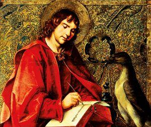 San Giovanni Evangelista, dipinto di Pedro Berruguete (1450-1504). Avila, monastero di San Tommaso.