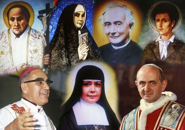 Risultati immagini per PAOLO VI, OSCAR ARNULFO ROMERO GALDÁMEZ; FRANCESCO SPINELLI; VINCENZO ROMANO; MARIA CATERINA KASPER; NAZARIA IGNAZIA DI SANTA TERESA DI GESÙ; NUNZIO SULPRIZIO.