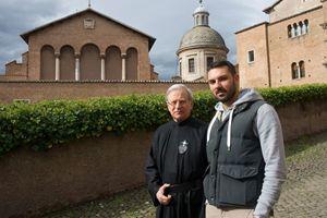 Da sinistra: padre Augusto Matrullo e Simone Scognamiglio. Foto di Giancarlo Giuliani/Cpp.