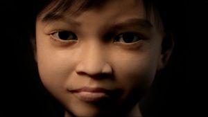 """Un fermo immagine tratto dal filmato pubblicato sul sito olandese di 'Terre des Hommes' che mostra la nascita di 'Sweetie', un modello computerizzato studiato per far apparire come reale la bambina di fronte alla webcam. Una trappola per i """"predatori"""" pedofili. Ci hanno provato in 20.000 in neppure tre mesi."""