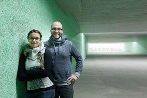 Niccolò con la fidanzata e collega Petra Zublasing (Foto: Giacomo Bianchi).