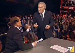 Berlusconi e Santoro nel duello a La7.