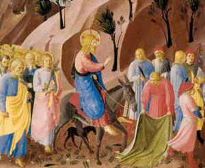 Beato Angelico (1387-1455), Entrata in Gerusalemme, Armadio degli argenti, Firenze, Museo di S. Marco.