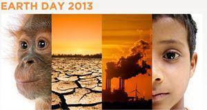 Il logo del Giorno della Terra 2013.