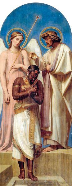 Adolphe Roger (1800-1880), Il battesimo dell'eunuco, 1840. Parigi, Notre Dame de Lorette.