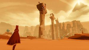 """""""Journey"""" è un premiato e affascinante videogioco per PS3 ambientato in un deserto surreale"""