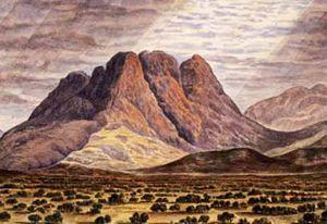 Mary Parker (1799-1864), Monte Sinai, acquerello, Londra, Victoria & Albert Museum.