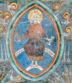 Cristo giudice, affresco. Cattedrale di Santa Maria, Anagni (Frosinone).
