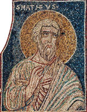 San Matteo evangelista, mosaico. Ravenna, basilica di Sant'Apollinare in Classe.