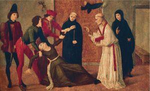 Liberazione di una indemoniata (sec. XV) del Maestro di San Severino. Firenze, Museo Horne.