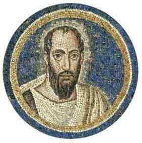 San Paolo, mosaico della volta, Ravenna, Arcivescovado.