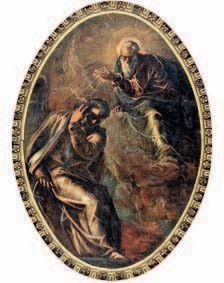 L'Eterno appare a Mosè di Jacopo Robusti, detto il Tintoretto (1518 - 1594). Venezia, Scuola Grande San Rocco.