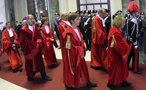 Inaugurazione dell'anno giudiziario (Ansa).