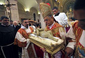 Sua Beatitudine monsignor Fouad Twal, patriarca latino di Gerusalemme (Reuters).