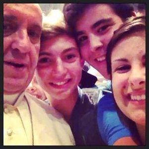 Autoscatto con il Papa!