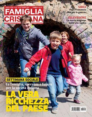La copertina di Famiglia Cristiana sulla Settimana sociale di Torino.