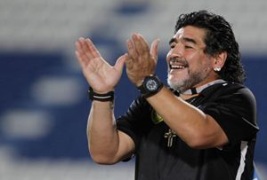 Diego Armando Maradona, indimenticato campione argentino del Napoli (Reuters).