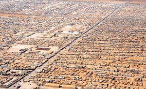 Una veduta aerea del campo profughi di Zaatari, Giordania
