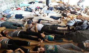 I siriani uccisi dalle armi chimiche a Ghouta.
