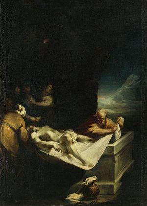 """""""La deposizione nel sepolcro"""", Olio su tela di Pietro Antonio Magatti (1691-1767). Milano, Pinacoteca Ambrosiana."""