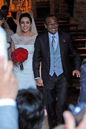 Carlo Conti con sua moglie Francesca Vaccaro