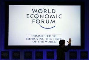 Un'immaginne della quarantaquattresima edizione del Forum economico mondiale, a Davos, in Svizzera. Foto Reuters.