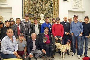 Gli All Blinds di Roma alla premiazione in Campidoglio. Nella foto di copertina: la squadra in campo. Le foto sono di Eva K. Kosloski.