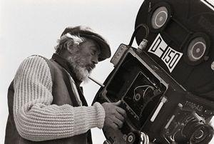 John Huston sul set de La Bibbia, nel 1966.