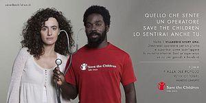 La locandina dell'iniziativa di Save The Children.
