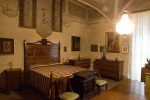 La stanza dov'è nato Giovanni Battista Montini, il futuro Paolo VI. Foto di Ugo Zamborlini.