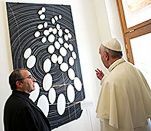 Padre Funes con papa Francesco.