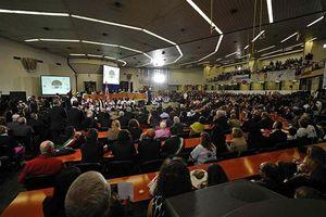 L'aula bunker di Palermo, dove si svolge il processo sulla Trattativa Stato-mafia.