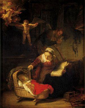 La Sacra Famiglia di Rembrandt.