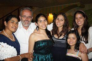 Pietro Gamba e la sua famiglia.