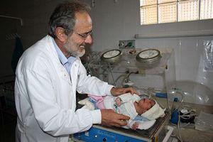 Pietro Gamba in ospedale.