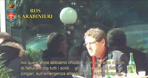 Salvatore Buzzi nel fermo immagine di un video dei Carabinieri.