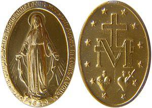 La medaglia di Santa Caterina Labouré.