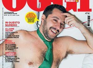 Matteo Salvini sulla copertina di Oggi.