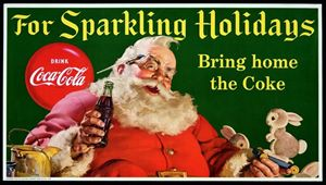 La pubblicità della Coca Cola con Santa Claus