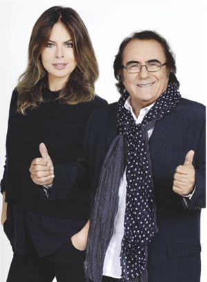 """Al Bano con Paola Perego, sua partner nella seconda edizione di """"Così lontani così vicini""""."""