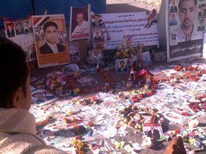 Il memoriale ai giovani yemeniti uccisi in piazza Karama