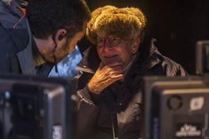 Ermanno Olmi sul set del film (foto Simone Falso)