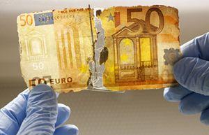 Una banconota danneggiata (Reuters).