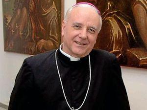 Monsignor Pizziol, vescovo di Vicenza.