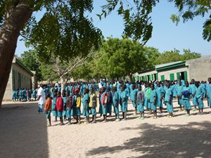 I ragazzi della scuola di Tcherè, in Camerun (foto di R. Gobbo).
