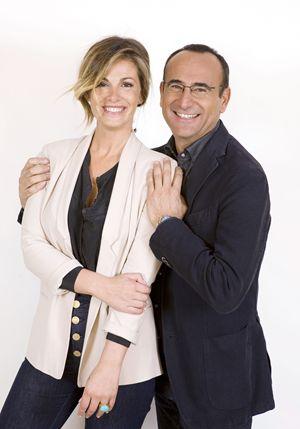 Carlo Conti con Vanessa Incontrada