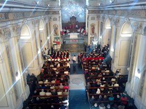 La Messa per l'ingresso solenne delle monache.