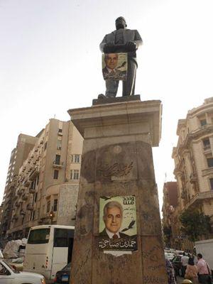 Manifesti a favore di Hamdeen Sabahi al Cairo (foto G. Mastromatteo).