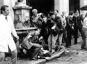 Un'immagine della strage di Piazza della Loggia.